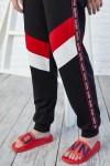 Костюм двойка 108-01 з червоними та білими вставками