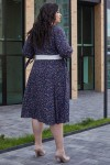 Красива сукня з поясом 696-04 квітковий візерунок