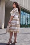Платье 699/1-01 бежевое