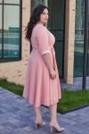 Елегантна сукня з поясом 701-02 рожева
