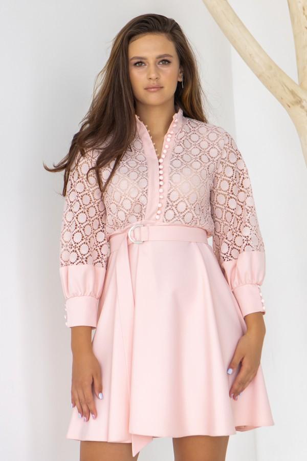 Платье 235-03 пудра