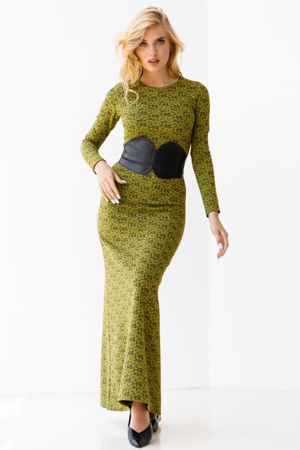 Платье 334-03 салатовое