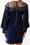 Сукня 550-01 темно синя