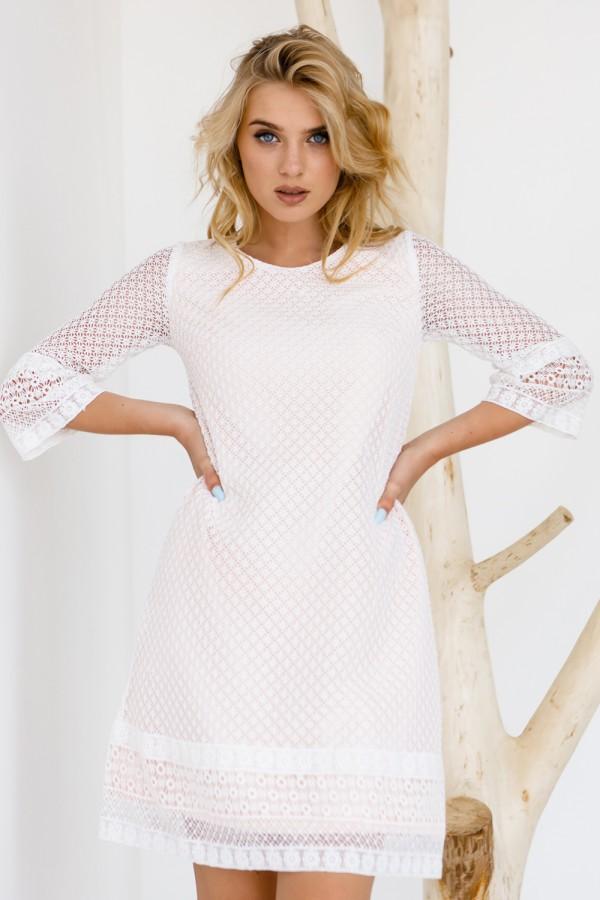 Платье 583-03 пудра