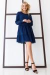 Платье 640-02 темно-синее