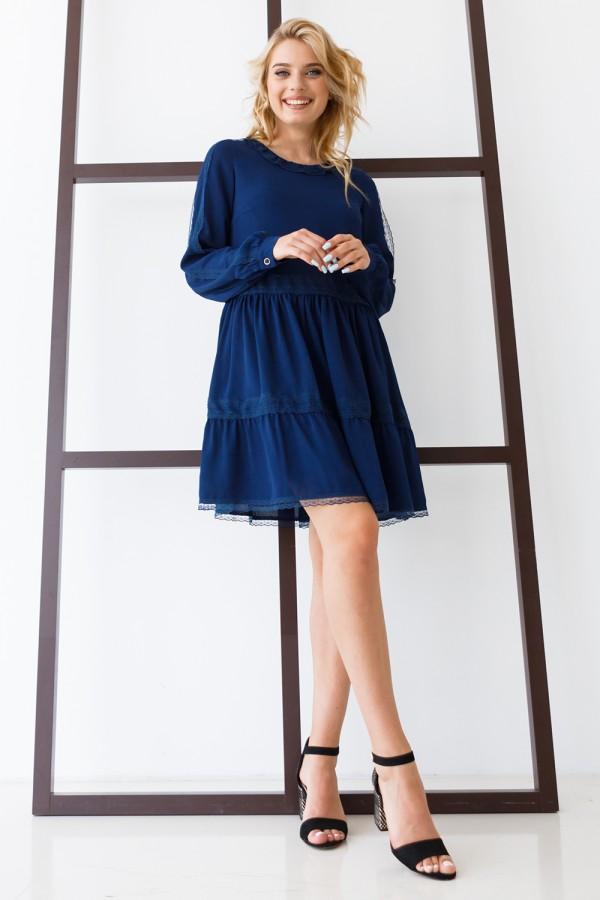 Плаття 640-02 темно-синє