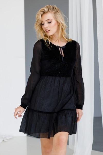 Платье 641-01 черное