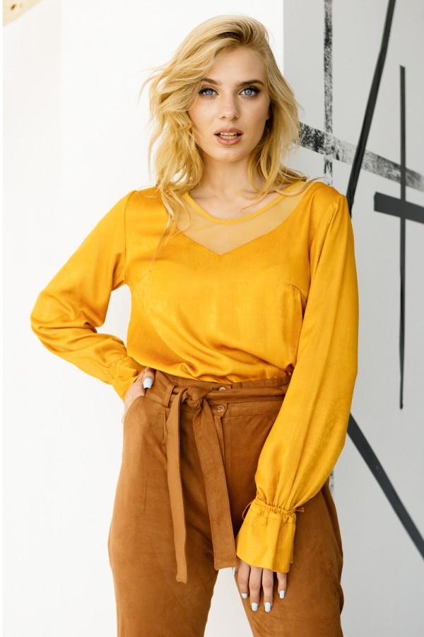 Блуза 658-02 горчичная