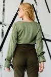 Блуза 658-03 колір хакі