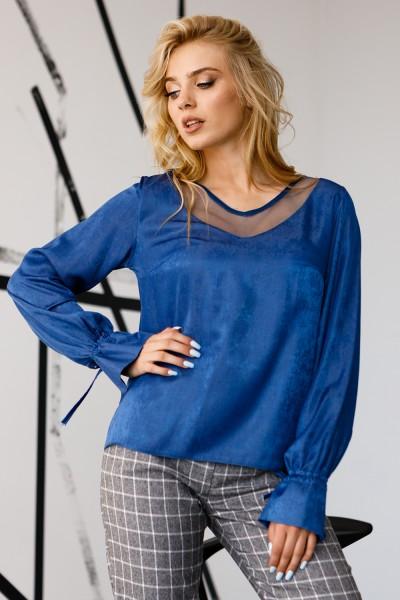 Блуза 658-04 голубая