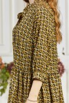 Платье 661-02 с геометрическим узором