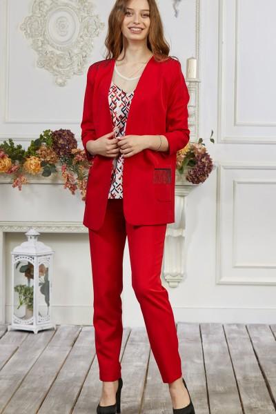 Костюм жіночий 674-06 червоний