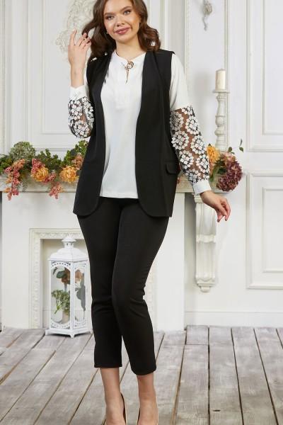 Костюм женский 675-01 черно белый