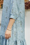 Плаття 677-01 блакитне з квітами