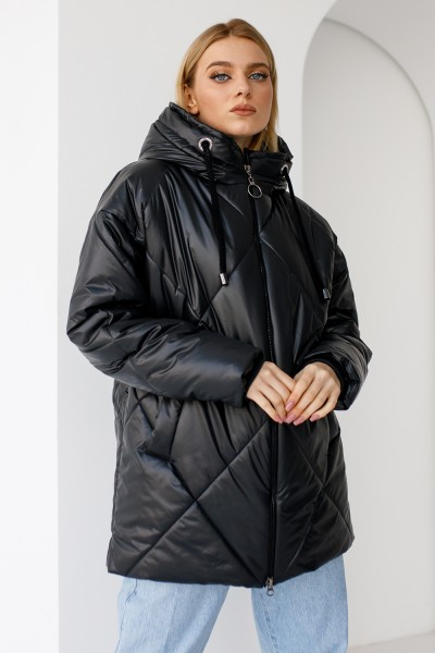 Куртка 836-01 чорна