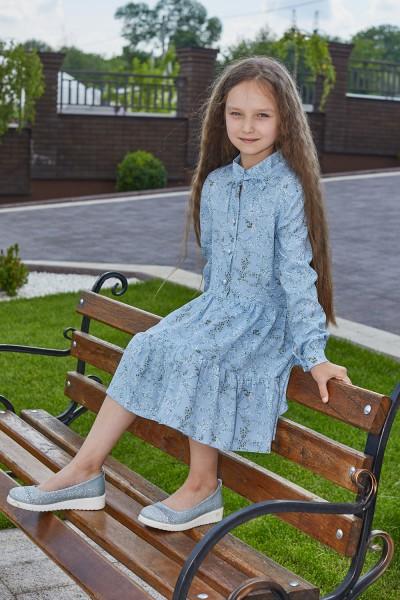 Платье 13/2-01 голубое