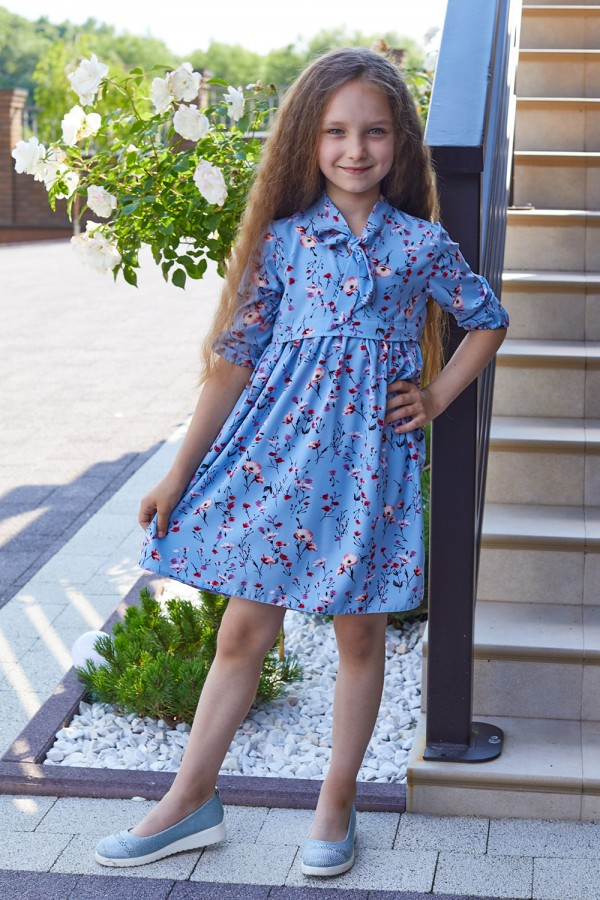 Платье 16-01 голубое