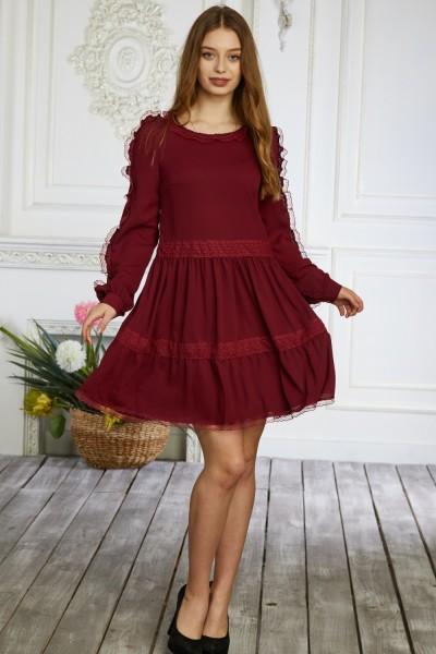 Платье 640-05 бордовое