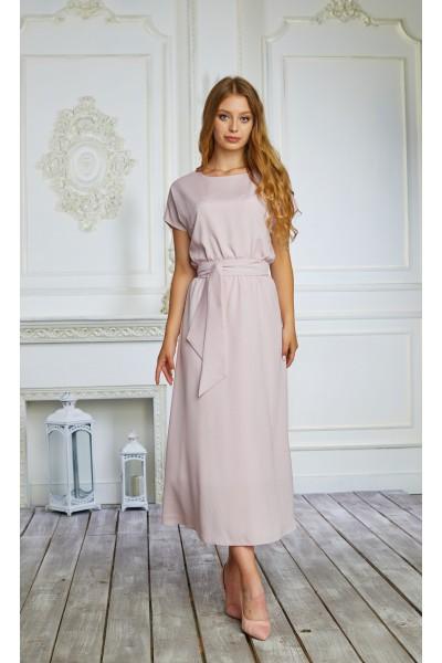 Плаття 598-01 колір ніжний фрез
