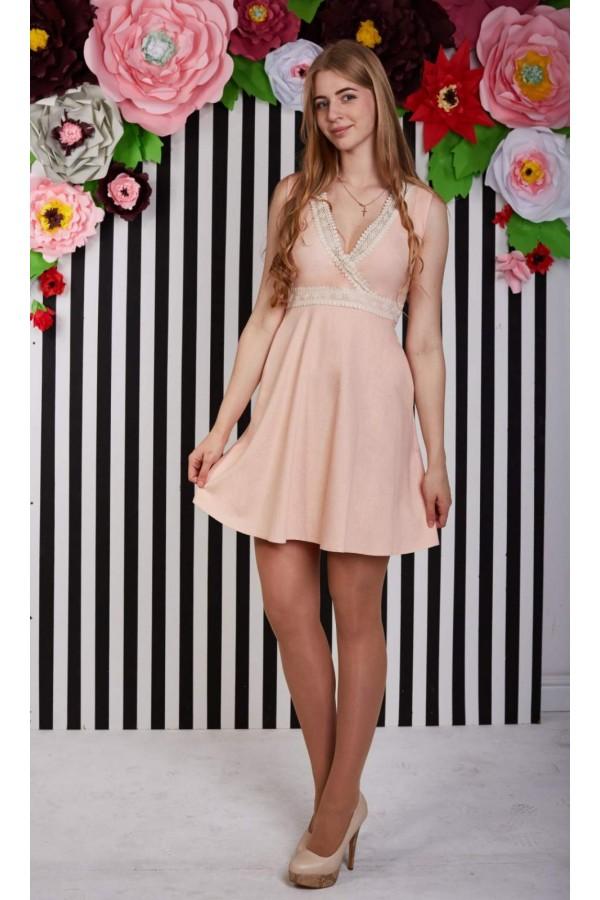 Платье 416-01 персиковое