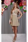 Платье 416-02 бежевое