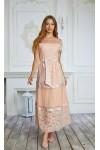 Платье 458-02 персиковое
