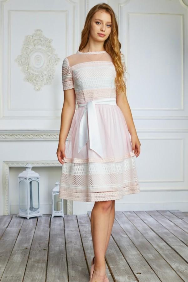 Платье 476/1-02 бежевое