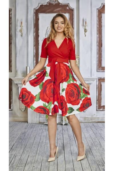 Плаття 494-01 червоне