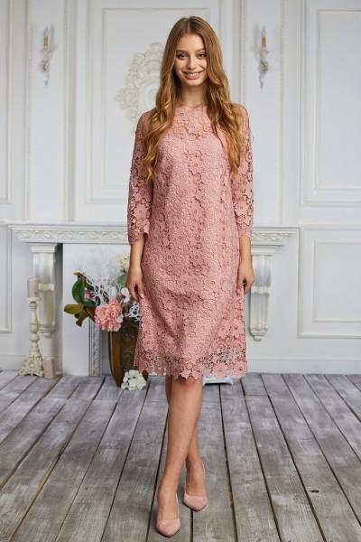 Плаття 524-01 рожеве
