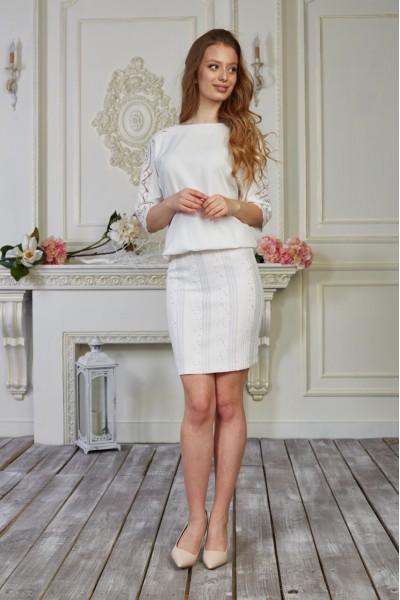 Плаття 554-02 біле