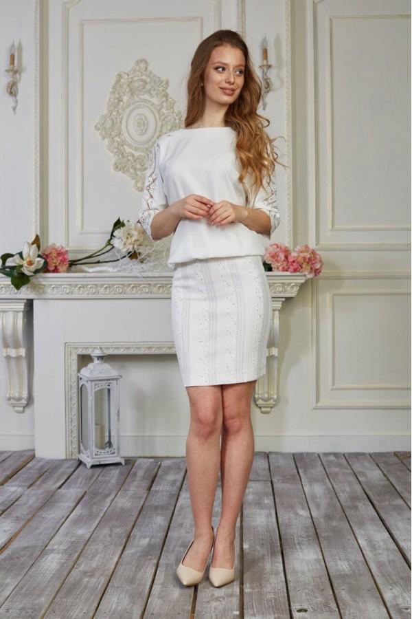 Платье 554-02 белое