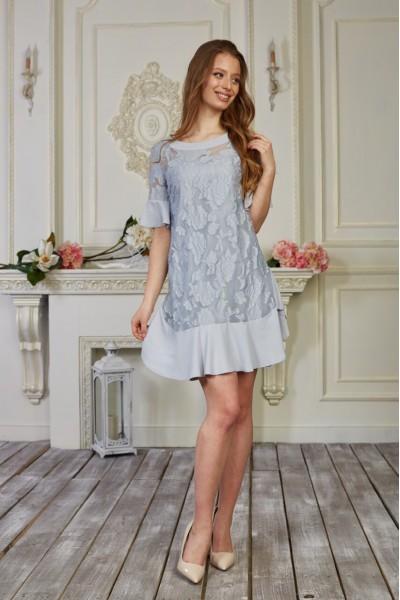 Платье 555/1-01 цвет серый