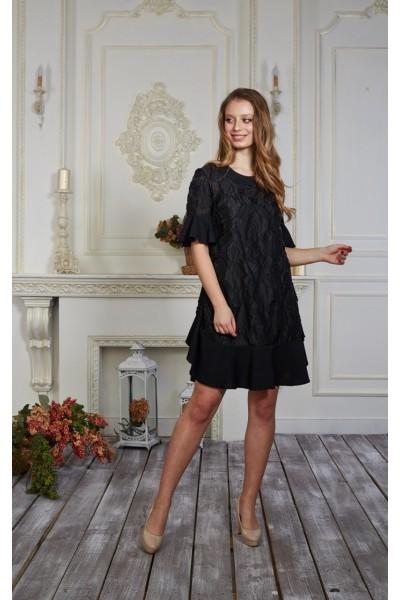 Платье 555/1-02 цвет черный