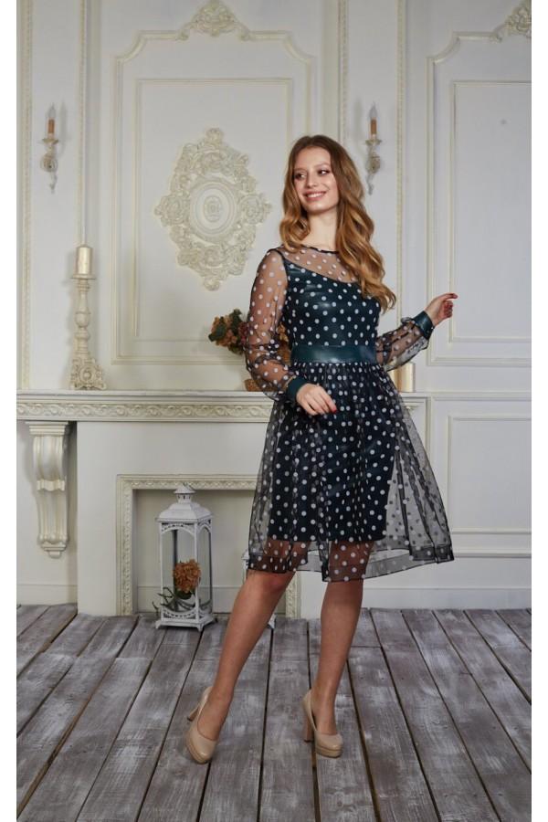 Платье 559-01 цвет бутылочный