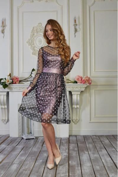 Платье 559-02 цвет фрезовый