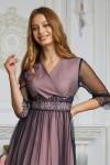 Платье 585-01 розовое с синим
