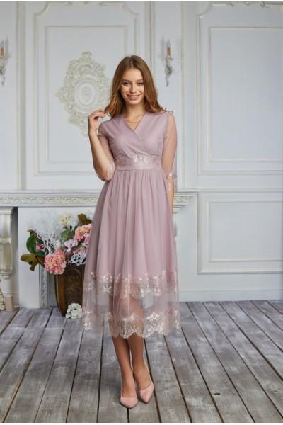 Платье 585-02 цвет фрез