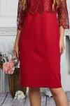 Платье 606-01 красное