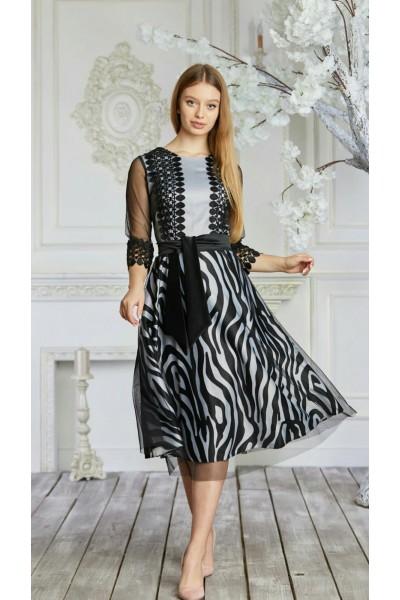Платье 619-01 черное