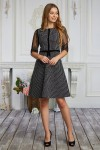 Платье 620-01 чорне в клітинку