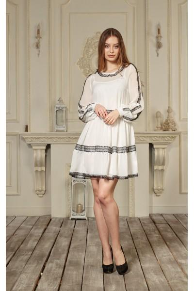 Платье 640-04 белое