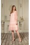 Плаття 644-01 кольору пудра