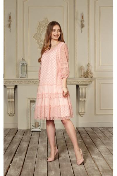 Платье 644/1-01 цвет пудра