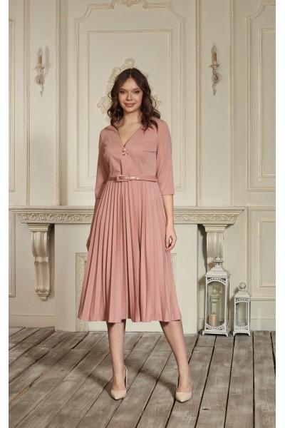 Платье 667-01 пудра
