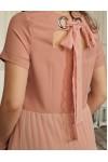 Платье 652-01 персиковое