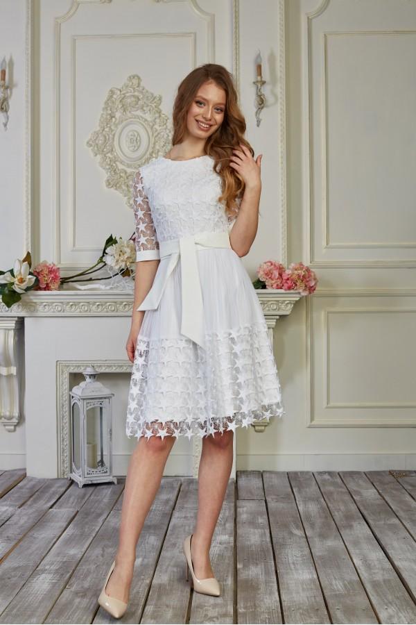 Платье 536-01 цвет белый