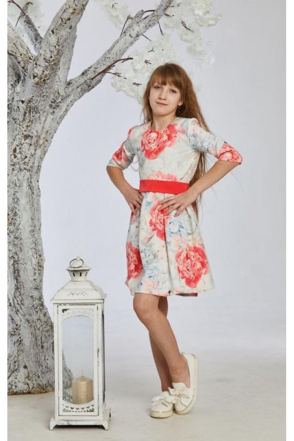 Платье 7-01 пудра