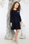 Детское платье 11-01 синее