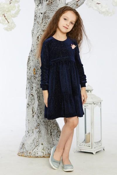 Дитяче плаття 11-01 синє