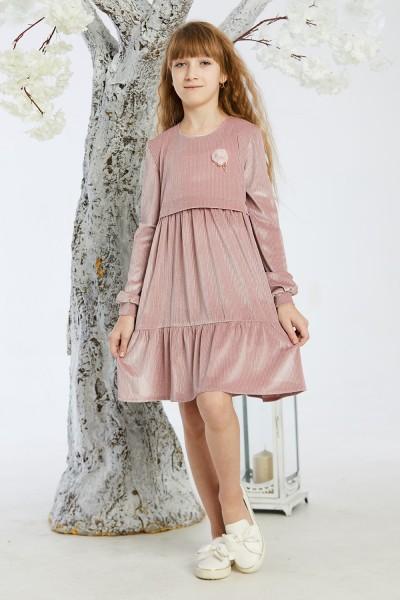 Дитяче плаття 11-02 рожеве